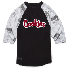 Cookies Tropical Varsity Cotton Jersey 3/4  Sleeve Raglan