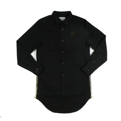 D9 Elongated Solid Woven, Blk, S