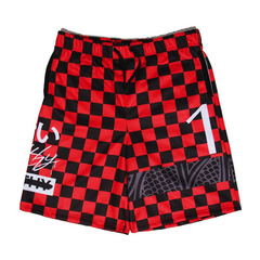 Filthy Dripped Red Volt Shorts