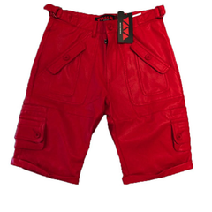 Bass by Ron Bass 3/4 Moto Short , Red, S
