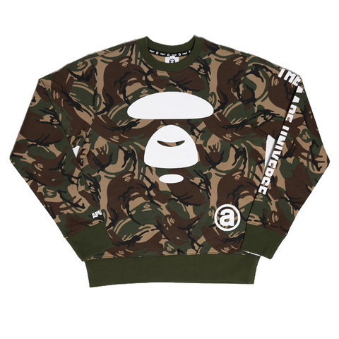 Aape by A Bathing Ape Camo Moonface Pullover Sweat