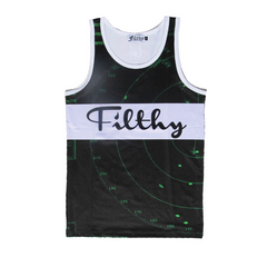 Filthy Dripped Fishscale Green Foams Tank