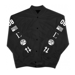 Civil High Rank 08 Mesh Bomber Jacket, Blk, XXL