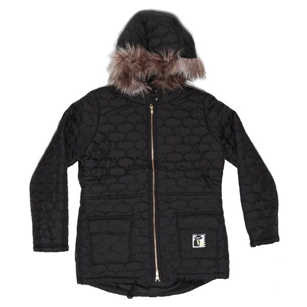 Crooks & Castles Ladies Vamp Woven Quilted Parka