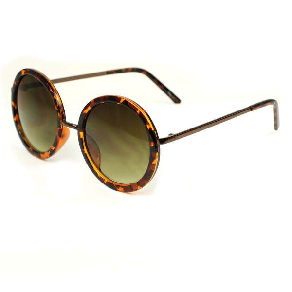 J Group NY Oversized Classic Round Lens Sunglasses