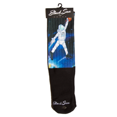 Blk Sox Space Dunk Socks
