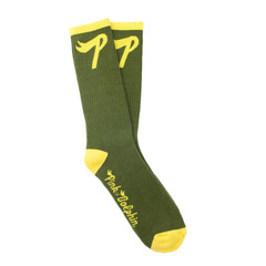 Pink Dolphin P Logo Socks Olive