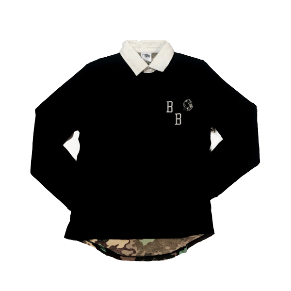 Bilionaire Boys Club Nothing Camo Rugby, Blk, S