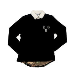 Bilionaire Boys Club Nothing Camo Rugby, Blk, L