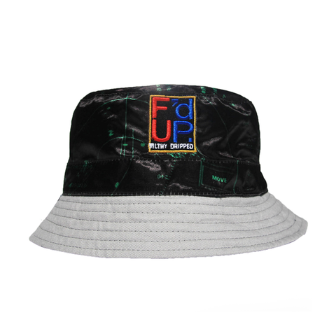 Filthy Dripped Fishscale Green Foams Bucket Hat