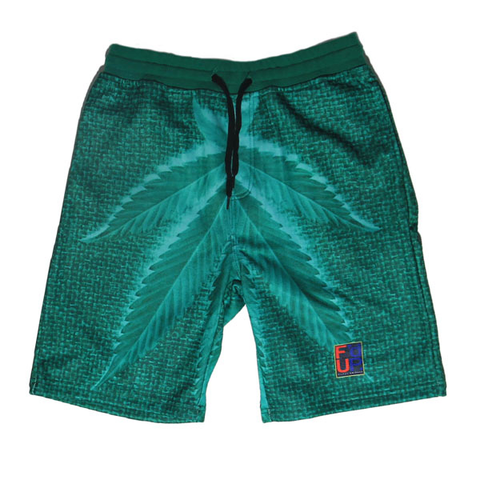 Filthy Dripped Fishscale Green Foams Shorts
