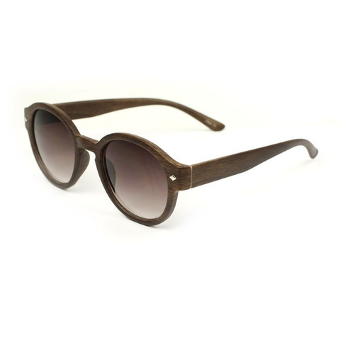 J Group NY Full Frame Wooden Textured Sunglasses