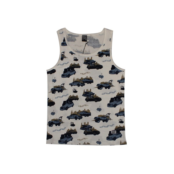 Rocksmith Pop The Trunk Olive Tank, Olive, XL