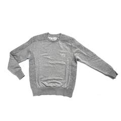 D9 Pleated Crewneck, Gry, XXL
