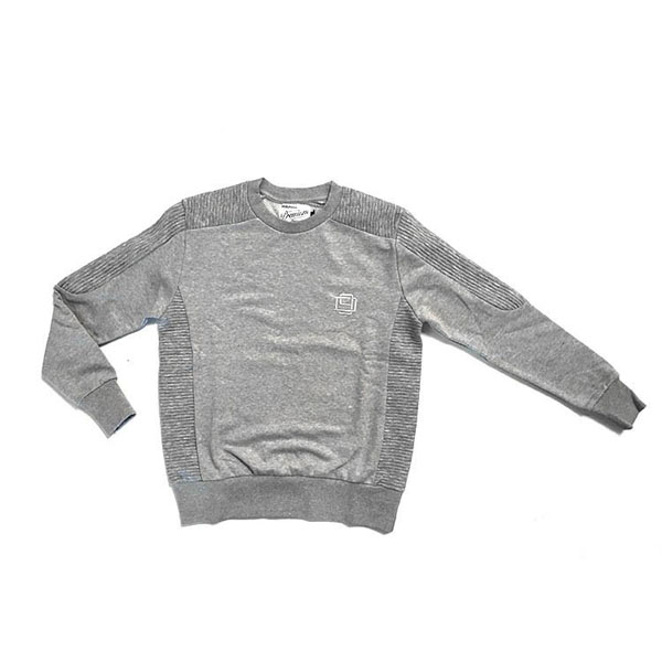 D9 Pleated Crewneck, Gry, M