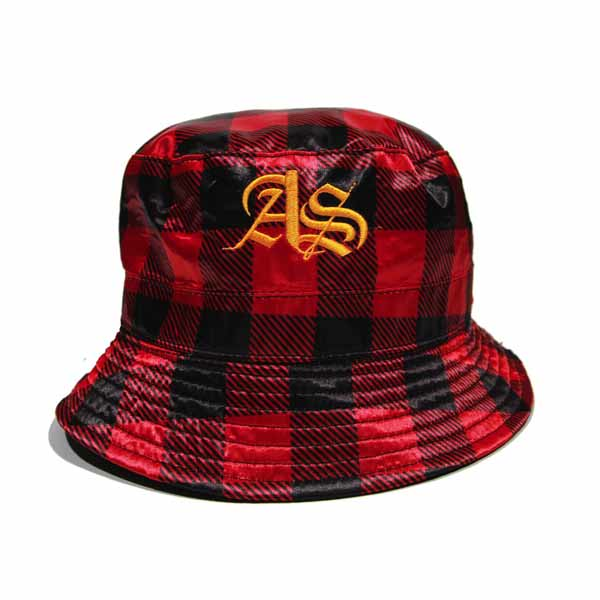 Filthy Dripped Art and Sew Reversible Red Volt Bucket Hat