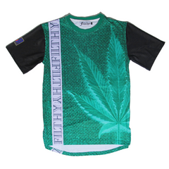 Filthy Dripped Fishscale Green Foams Tee