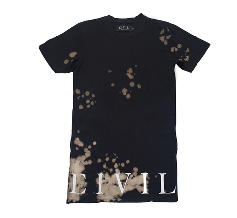 Civil Regime Bleach Long Side Split Tee