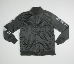 Civil High Rank 08 Mesh Bomber Jacket, Blk, L