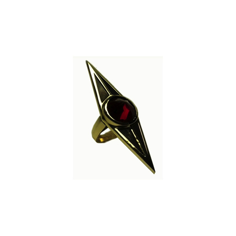 Han Cholo Protector Ring Gold/Red Stone