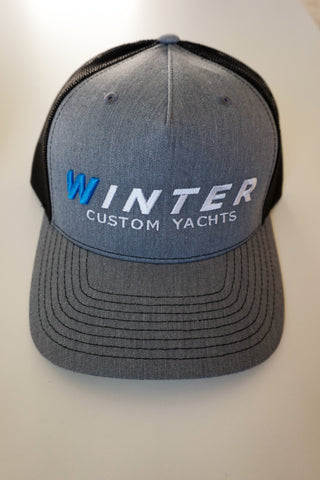 Winter Trucker Hat - Grey/Black
