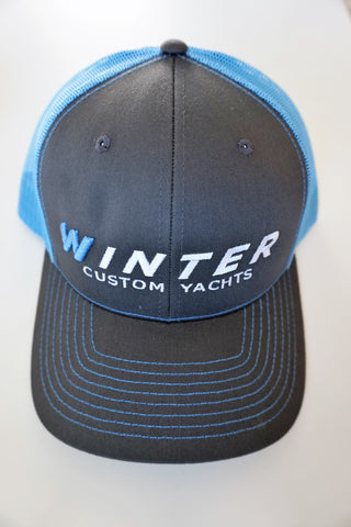 Winter Trucker Hat - Grey/Blue