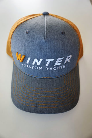 Winter Trucker Hat - Grey/Gold