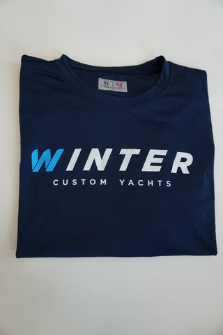 Classic Winter Short Sleeve Shirt - Navy