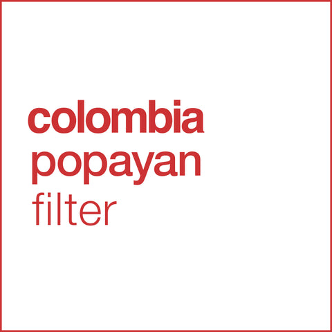 colombian popayan filter coffee