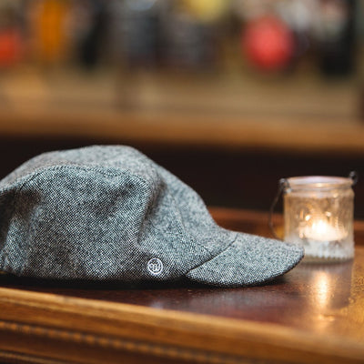 Walz Velo City Cap Black Tweed on the bar