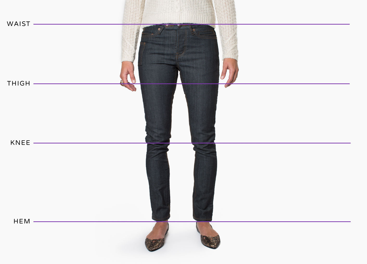 Osloh Bicycle Jeans Fits - Skinny, Relaxed & Shorts Measurements