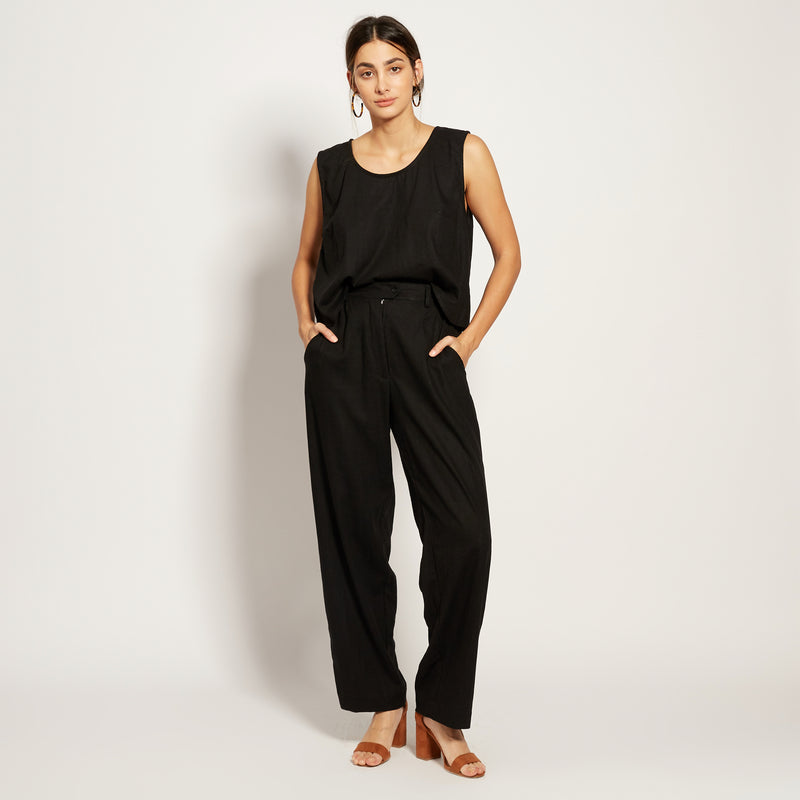 LINEN ESME IN BLACK
