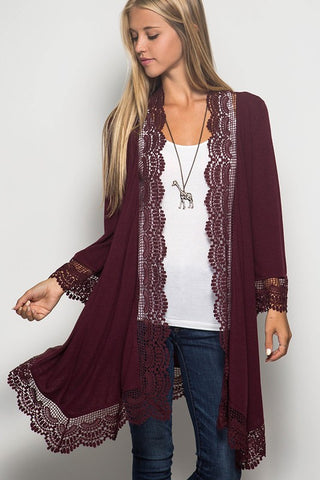 Crochet Trim Cardigan