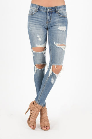 Low Rise Skinny Ankle Jeans