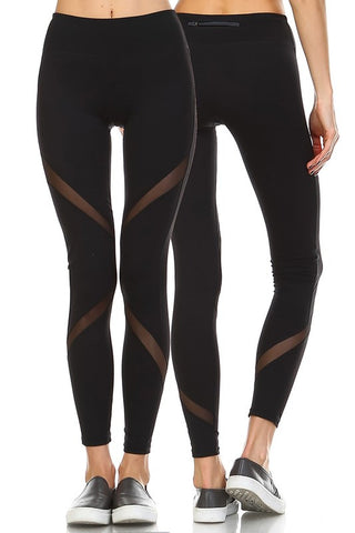 Athletic Mesh Leggings