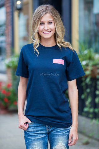 Simply Southern Short Sleeve Zebra-Navy
