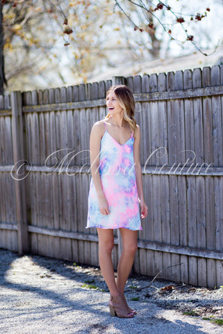 Purple & Pink Tie Dye Dress