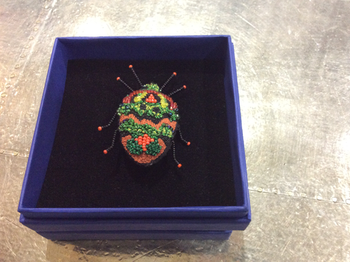 Blaze beetle brooch - Tiffany Treloar