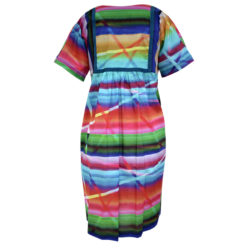 Tiffany Treloar Voile Print Tunic Dress Rainbow Back
