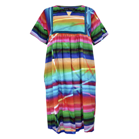 Tiffany Treloar Voile Print Tunic Dress Rainbow Front