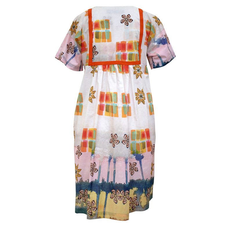 Tiffany Treloar, Voile Print Tunic Dress Seashells - Tiffany Treloar