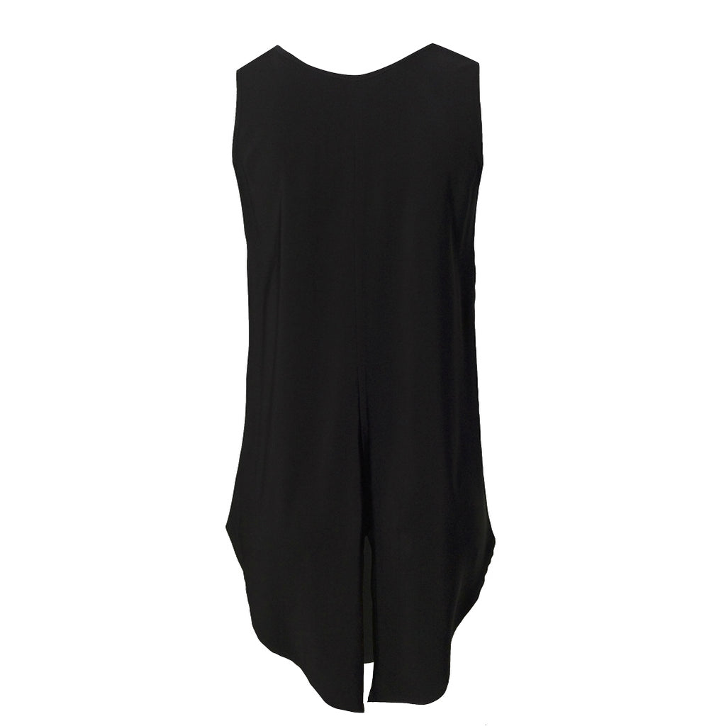 Tiffany Treloar Viscose Tank Black Back
