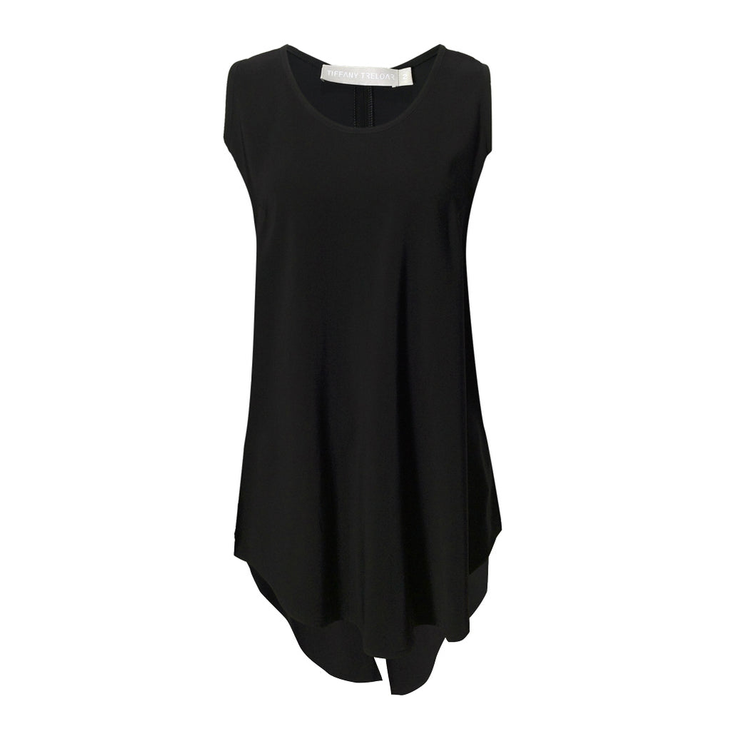 Tiffany Treloar, Viscose Tank Black - Tiffany Treloar