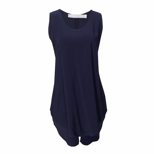 Tiffany Treloar Viscose Tank Blueberry