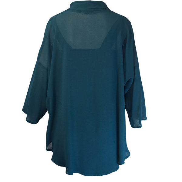 Tiffany Treloar Cowl Neck Top Comet Back