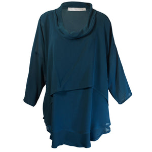Tiffany Treloar Cowl Neck Top Comet Front