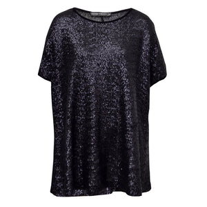 Tiffany Treloar Sequinned Top Black Noir Front
