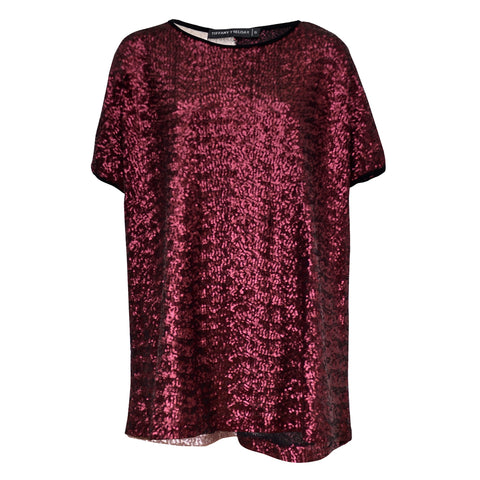 Tiffany Treloar Sequinned Top Romance Front
