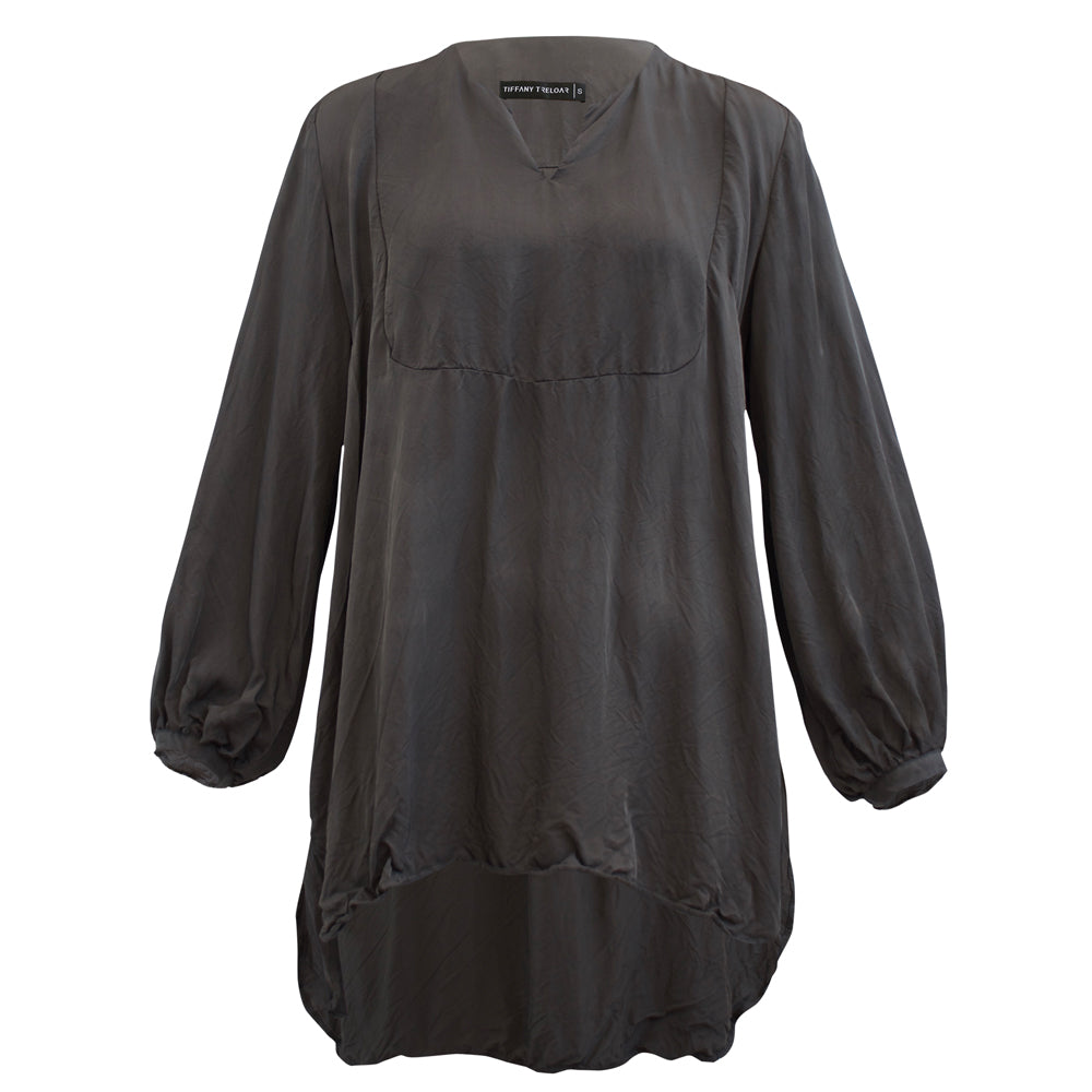 Tiffany Treloar Madeline Charcoal Top Front