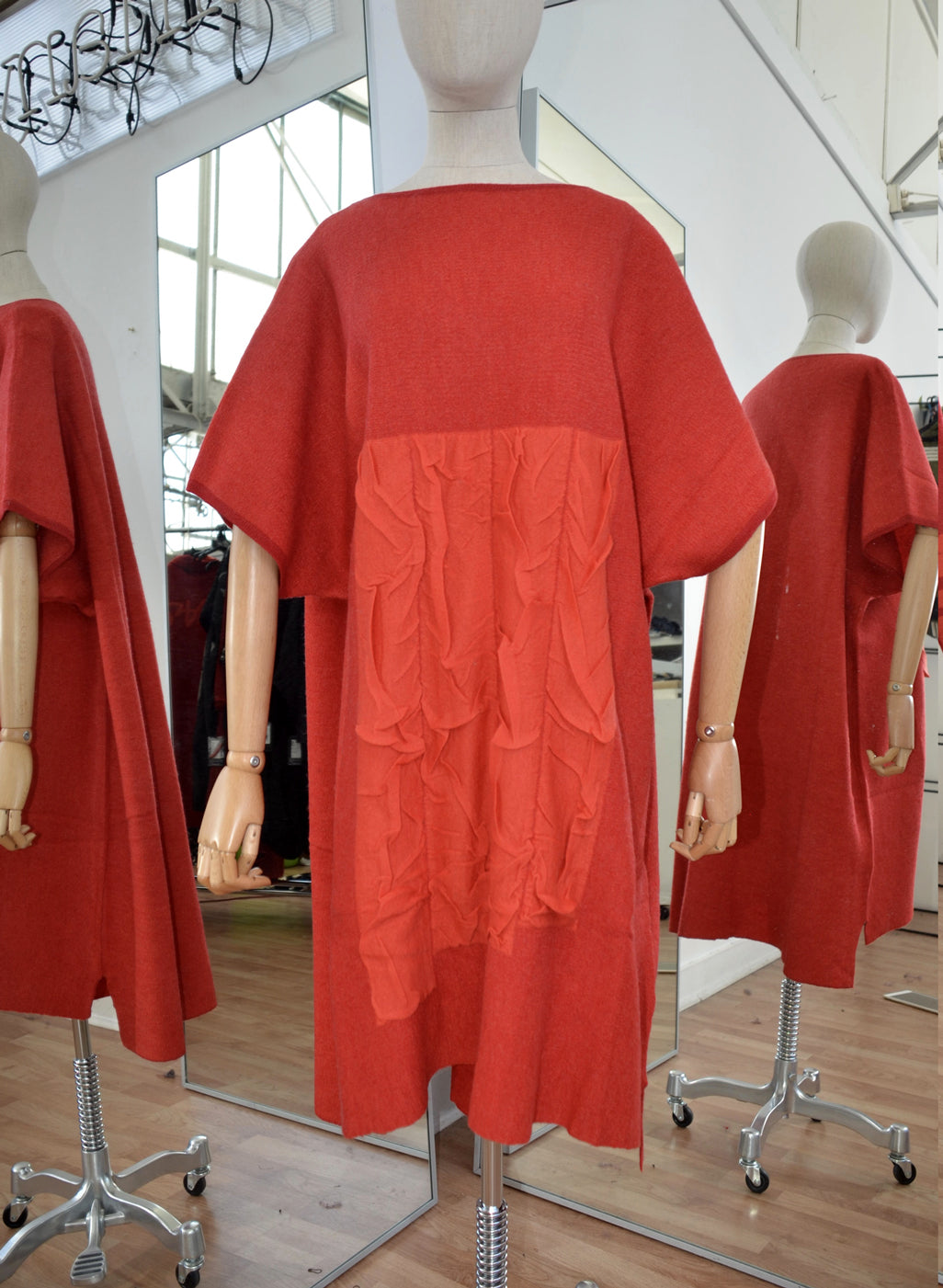 Moyuru Red Wool Dress  Art Number 183309
